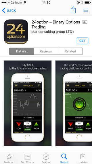 Binary options iphone app