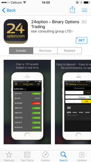 Binary option app