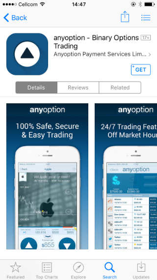 Binary options app canada
