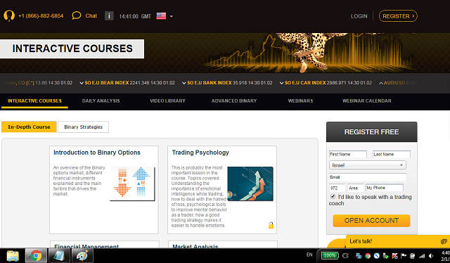 Free binary options training course
