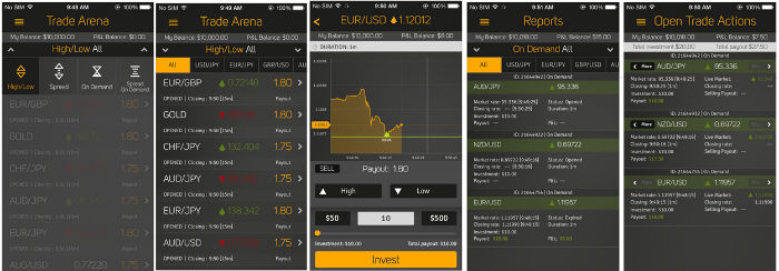highlow broker mobile platform