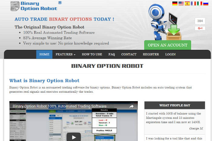 Binary option robot comparison